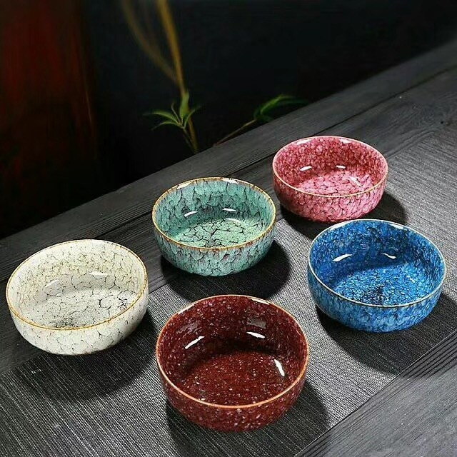 Color Intrigue Kitchen Ceramic Bowls Coloful Plate Tea Set Persimmon Shape